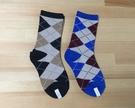 【韓風童品】(2雙/組)男童英倫風經典格子棉襪 男童襪子 菱型格圖案學生襪  透氣中筒襪