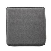 HOLA 新素色記憶棉坐墊40x40x4cm 炭灰色