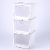 (組)日本IRIS 磁吸整理箱白M寬38X深42X高31.3cm-3入
