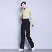 直筒褲 2020春秋裝女闊腿高腰休閑百搭寬松直筒垂感顯瘦西裝長褲