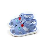 兒童鞋 涼鞋 嗶嗶鞋 童鞋 天藍色 中童 B035 no180