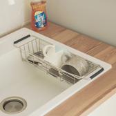 流理台 碗盤架 瀝水架 收納架 餐具架【D0097】伸縮水槽洗碗精掛籃 MIT台灣製 收納專科