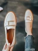 小皮鞋女秋季百搭平底秋鞋英倫單鞋2020秋款潮鞋新款一腳蹬樂福鞋 依凡卡時尚