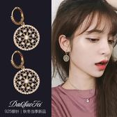 適合圓臉的耳環女氣質韓國個性簡約圓盤耳釘設計感耳飾品網紅耳墜