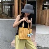 包包女包新款2020韓國狗牙包菜籃子托特包單肩大容量手提包女小包