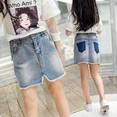 女童牛仔裙女2019夏季新款兒童洋韓版寬鬆休閒牛仔裙 QW3872『夢幻家居』