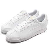 Puma 休閒慢跑鞋 Roma Basic 白 全白 小白鞋 彎刀 皮革鞋面 男鞋 女鞋 【ACS】 35357221