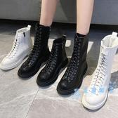 短靴 馬丁靴女2019新款英倫風港味靴子冬加絨百搭秋冬季帥氣短靴