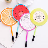 【BlueCat】水果網球拍扇子造型水性筆 中性筆