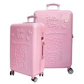 【YC Eason】45週年Hello Kitty19+26吋行李箱(粉紅色-2件組)