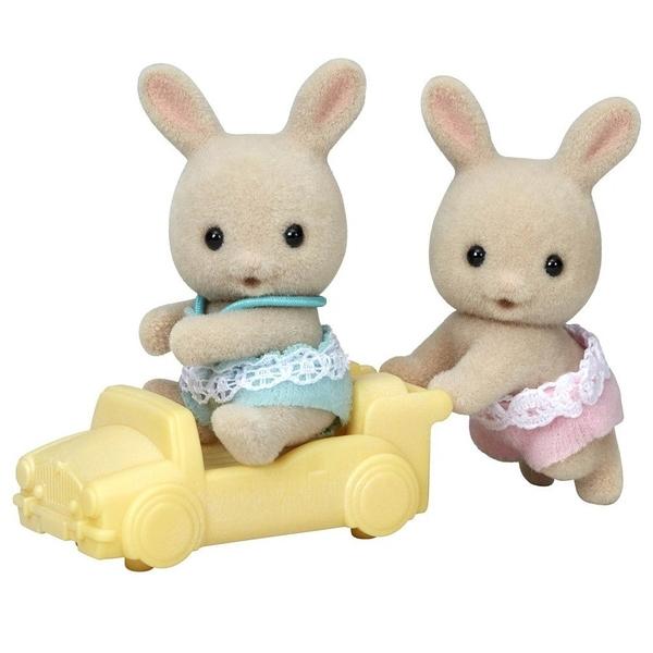 《森林家族-日版》牛奶兔雙胞胎(新)  / JOYBUS玩具百貨