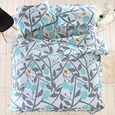 100%精梳純棉 雙人加大床包被套四件組 金色年華 台灣製