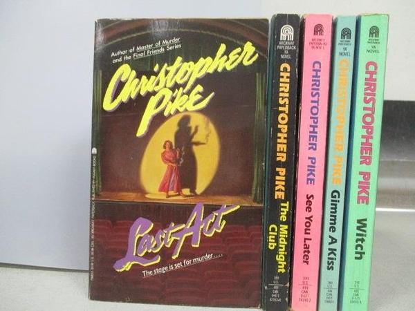【書寶二手書T4/原文小說_MOU】Christopher Pike-Last Act_Witch等_5本合售