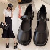 瑪麗珍單鞋復古厚底2021春秋新款圓頭一字扣粗跟日系小皮鞋女 快速出貨