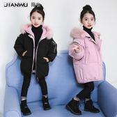 女童棉衣冬裝2018新款韓版女孩洋氣外套兒童羽絨棉服大童棉襖12歲男女童厚外套