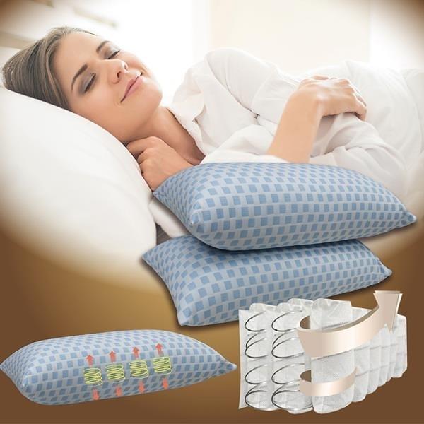 【南紡購物中心】【Indian】全方位袋裝透氣獨立筒彈簧枕(2顆)