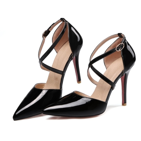 大尺碼女鞋 2019年春季歐美百搭尖頭高跟鞋5色