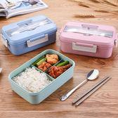 小麥微波爐分格飯盒三格塑料學生成人分隔便當盒加熱餐盒密封保鮮