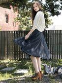秋冬7折[H2O]肩帶可拆可內搭或單穿拼接多層紗裙吊帶洋裝 - 黑/白/粉色 #8634009