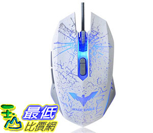 [105美國直購] 滑鼠 HAVIT S10 Wired Mouse 2400 DPI 4 Adjustable LED 7 Buttons (White)