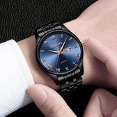 經典羅馬刻度夜光手錶男士防水多功能雙日歷男款石英時尚男錶超薄