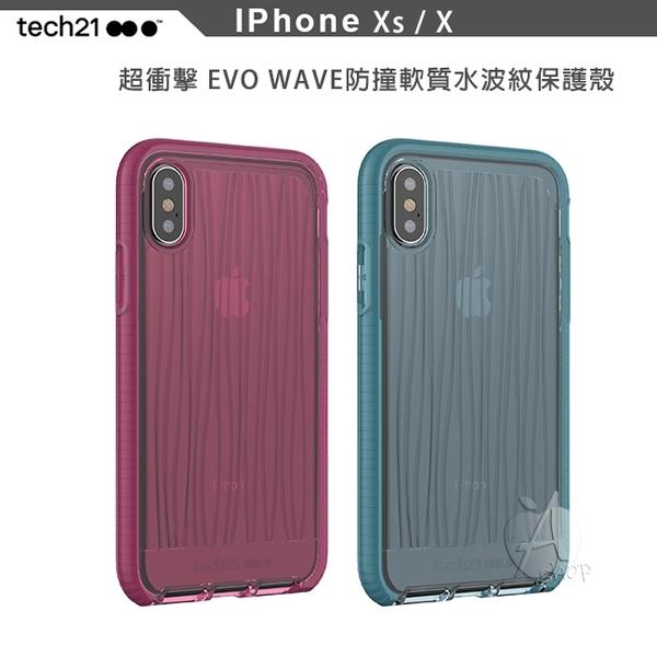 【A Shop】Tech21 英國超衝擊EVO WAVE防撞軟質水波紋保護殼 軟質 for iPhone XS / X