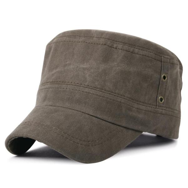 卡車帽帽子男士春新品休閒平頂帽戶外保暖帽全棉軍帽鴨舌帽 快速出貨