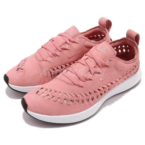 Nike 慢跑鞋 Wmns Dualtone Racer Woven 粉紅 白 側邊編織 運動鞋 女鞋【PUMP306】 AJ8156-600