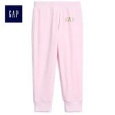 Gap女嬰幼童 Logo舒適長褲 512255-淺粉色