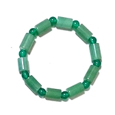 東菱玉直管與綠瑪瑙圓珠彈性手環