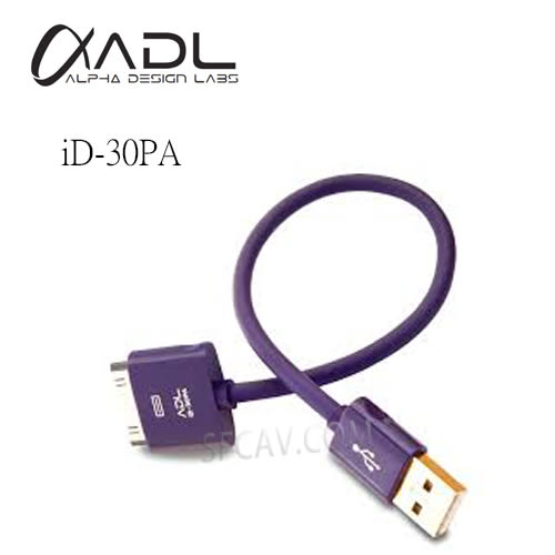 【勝豐群音響新竹】FURUTECH ADL iD-30PA  i-device cable Doc to USB-A 傳輸線 0.18m