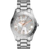 Michael Kors MK 晶鑽世界時尚手錶-銀白 MK5958