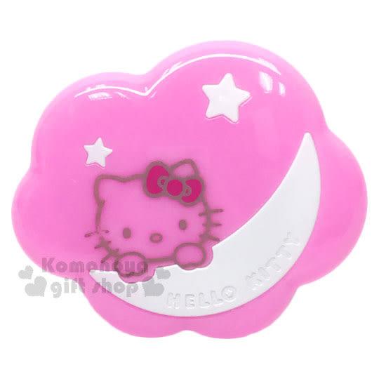 〔小禮堂〕Hello Kitty LED造型夜燈《粉雲朵.白月亮.小星星》附裝飾貼紙 4713052-38463