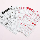 【BlueCat】Good luck黑紅兩色拍立得裝飾貼紙 (6入)