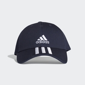 ADIDAS 深藍 刺繡 三線 老帽 棉 基本款 (布魯克林) GE0750