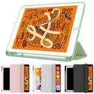 貼心筆槽設計!! 潮流軟殼輕薄款 Apple iPad8 10.2吋 2020版 平板電腦保護套 休眠喚醒功能 支架 皮套