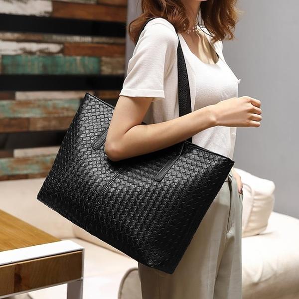 新款女包潮流編織包大容量側背包時尚休閒托特包簡約大包 黛尼時尚精品