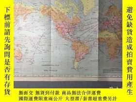 二手書博民逛書店民國罕見地圖罕見世界商業地圖(COMMERCIAL MAP OF