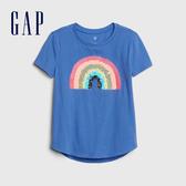 Gap女童創意可撥動亮片圓領T恤546061-藍色