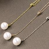 925純銀項鍊-獨一無二美艷百搭女天然珍珠墜飾銀飾3色73y2【巴黎精品】