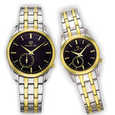 Olympia Star 奧林比亞之星 經典都會系列情人對錶(內斂黑)