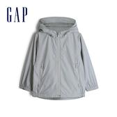 Gap男幼童 簡約純沙拉鍊連帽外套 541939-銀色
