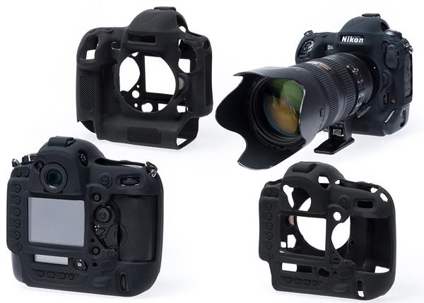 【聖影數位】 easyCover 金鐘套 Nikon D750 適用 果凍 矽膠 保護 防塵套(黑色) 公司貨 免運