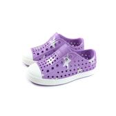 native JEFFERSON PRINT 懶人鞋 洞洞鞋 紫色/星星 小童 童鞋 13100101-8758 no901