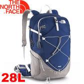 【The North Face 28L 輕量專業登山背包 深藍/鐵銀】A2UB/登山背包/後背包/專業背包/自助旅行★滿額送