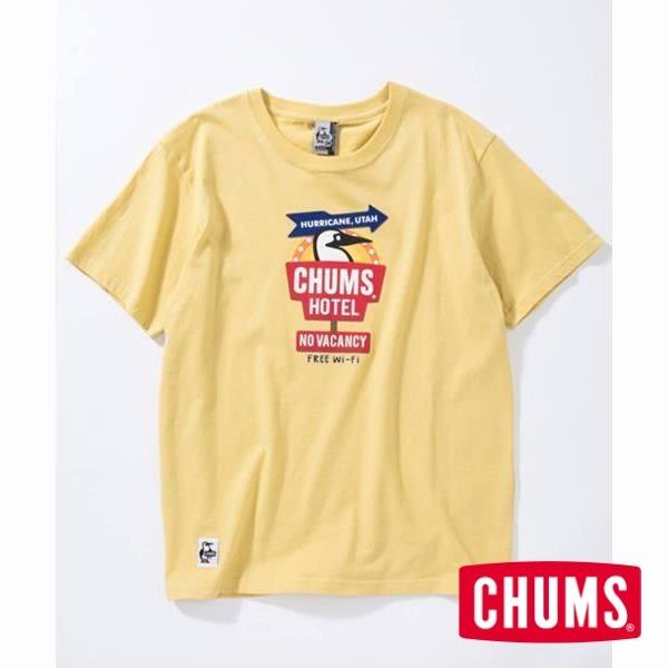 CHUMS 日本 女 CHUMS Hotel 短袖T恤 黃 CH111368Y001