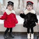 兒童棉服女 女寶寶冬季棉服2021新款韓版小童毛絨中長款羽絨棉衣時髦兒童【快速出貨八折下殺】