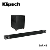 【送到府基本安裝+限時特賣+領卷再折+24期0利率】Klipsch 古力奇  無線超低音 聲霸 BAR-48 公司貨