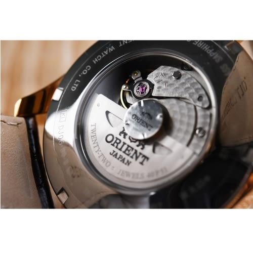 ORIENT 東方錶/經典時尚GMT二地時間皮帶腕錶/SDJ05001W