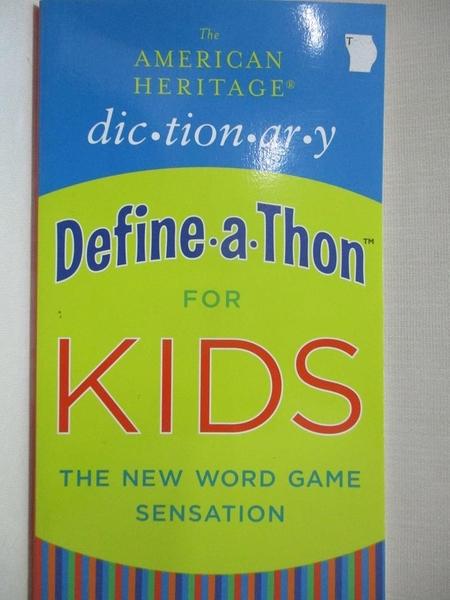 【書寶二手書T1/兒童文學_CYW】The American...Define-A-Thon for Kids